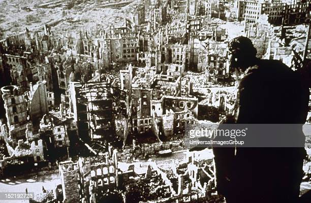 World War II Dresden destroyed by bombing
