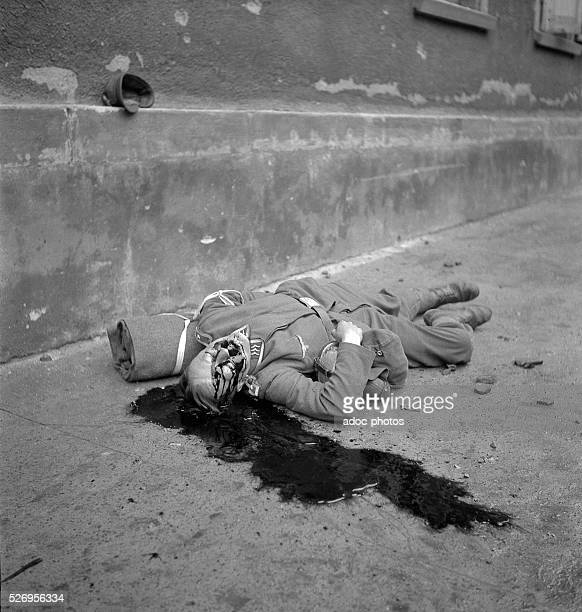 World War II During the advance of the First French Army in Germany Dead body of a German soldier In 1945