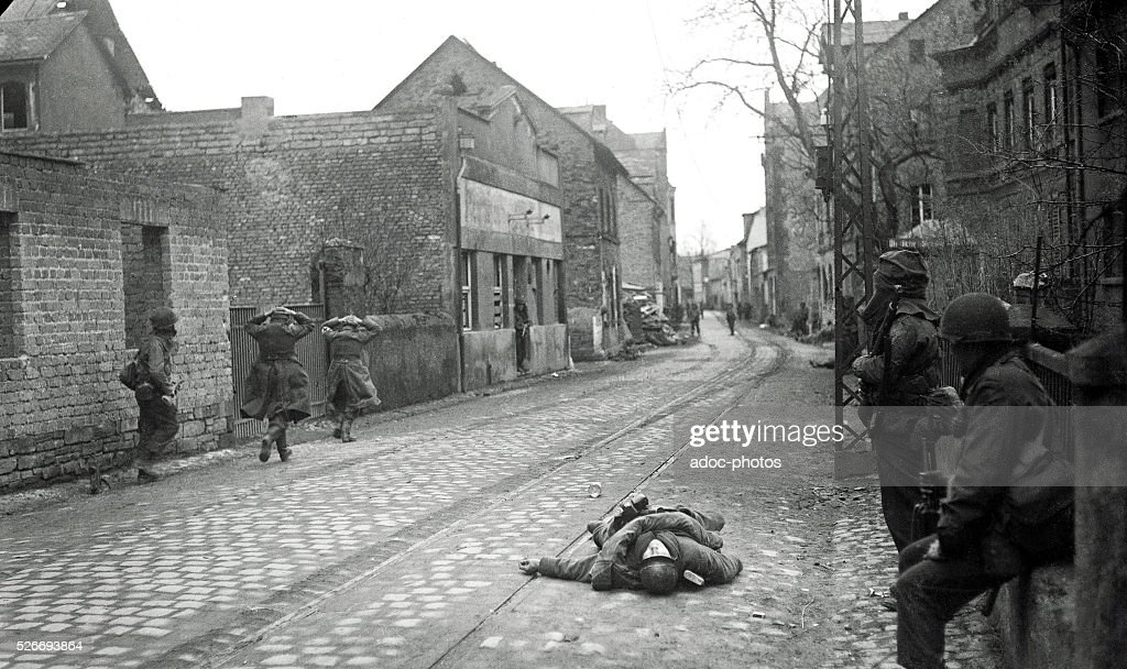 World War II. During the advance of the Third United States Army in Germany. In 1945. : News Photo