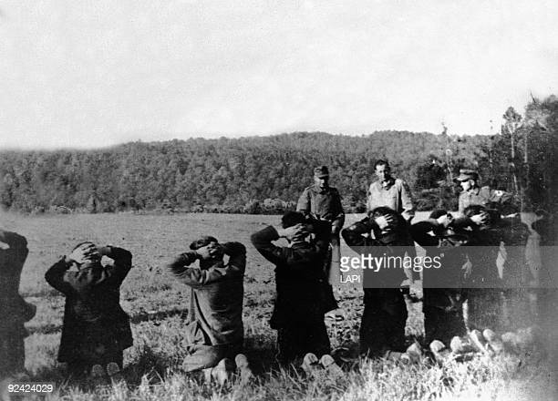 World War II French Resistance Fighters About To Be Shot By The German Army France Circa