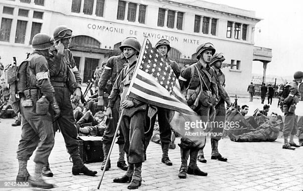World War II Front of North Africa American landing in Casablanca November 1942