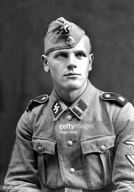 """World War II. German army. SS from the """"Adolf Hitler"""" division. France, 1944."""