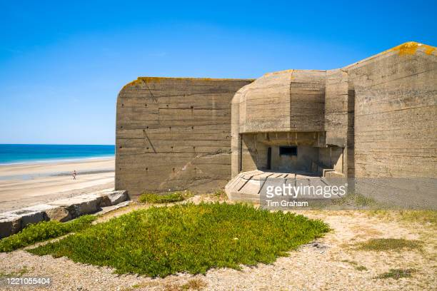 World War II German bunker at Channel Islands Military Museum at Les Laveurs Beach, St Ouen, west coast of Jersey, Channel Isles.