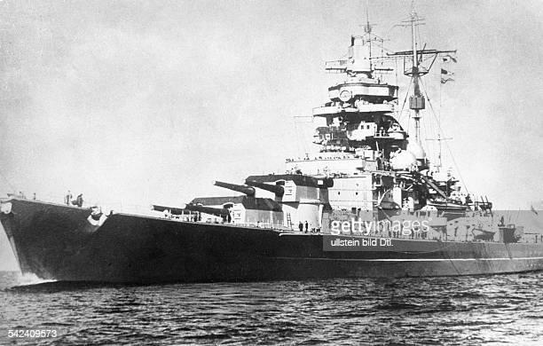World War II German Kriegsmarine Battleship TIRPITZ about 1942