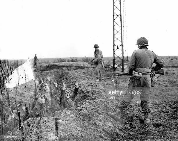 World War II German soldiers surrendering to the Allies near Gelsenkirchen April 1945