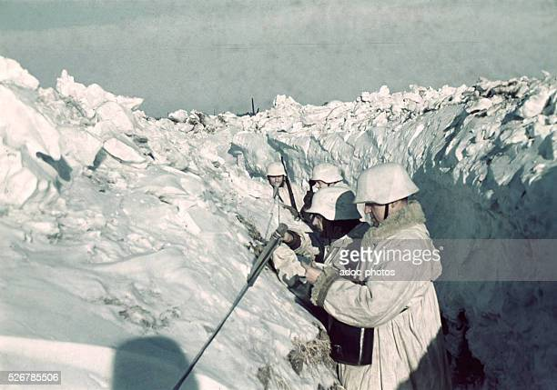 World War II German troops on the Russian front line during winter Ca 1942