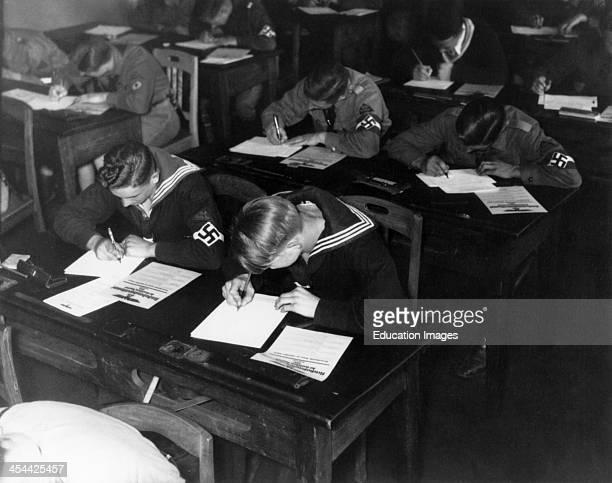 World War II Hitler Youth In Classroom