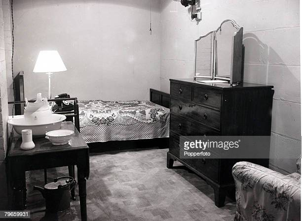 World War II, London, England, 17th Match 1948, The underground bedroom used by Prime Minister Winston Churchill during the Second World War, The...