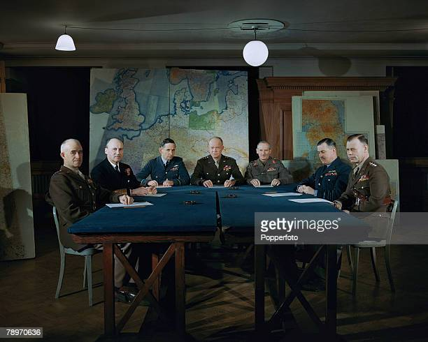 World War II London England 31st January The Supreme Allied Command pictured in conference planning the allied invasion to bring about the liberation...