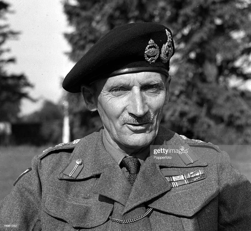 World War II. London, England. 1943. A portrait of General Bernard Law Montgomery, British Field Marshal and later Viscount Montgomery of Alamein. : News Photo