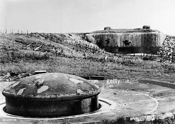 World War II Maginot Line Gun turret and blockhouse