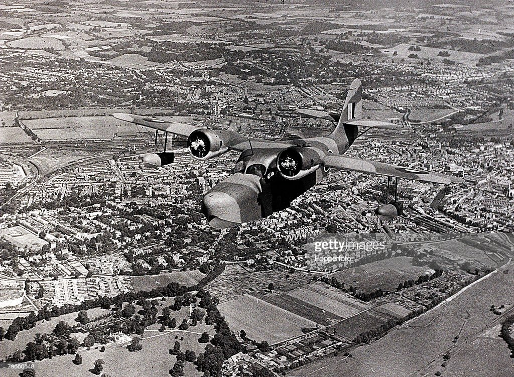 World War II, March 1944, A Grumman 'Goose' amphibian aircraft is pictured during the Second World War : News Photo
