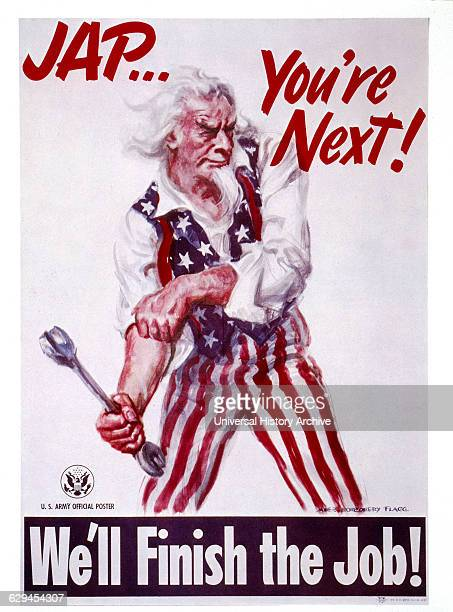 World War II Military Poster 'Jap You're Next' by James Montgomery Flagg USA 1942