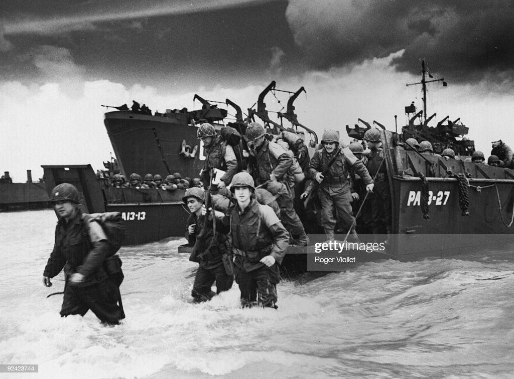 World War II. Normandy landings. : News Photo