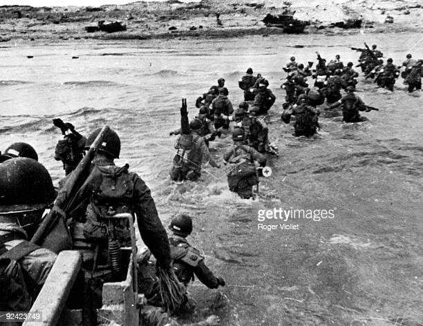 World War II Normandy Landings American troops arriving at Utah Beach June 6th 1944