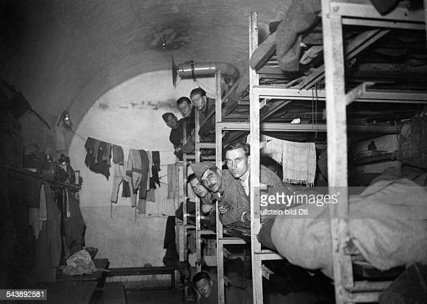 World War II nvasion of France bedroom inside the bunker of the Maginot Line about 1940Vintage property of ullstein bild