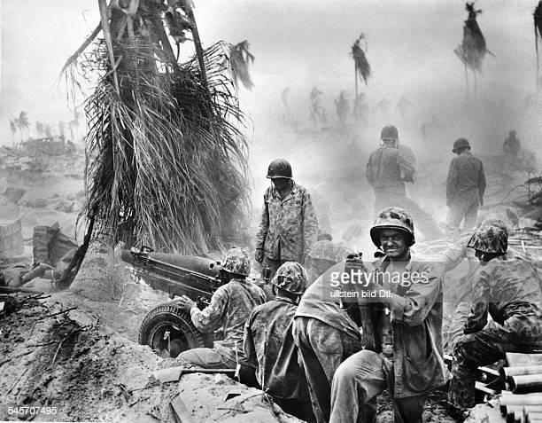 World War II Pacific'Island Hopping' Disembarkement of UStroups on Gilbertislands Tarawa