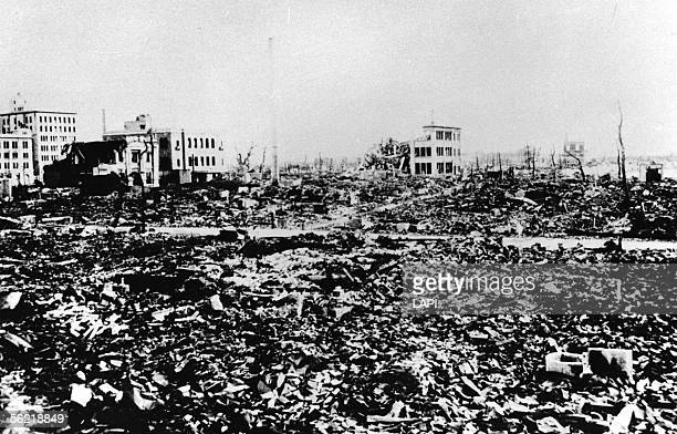 World War II. Panorama of Hiroshima after the atomic bomb.