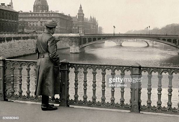 World War II Paris under German occupation A German officier in Paris Ca 1941