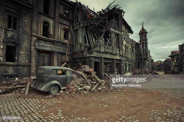 world war ii - ruined stock pictures, royalty-free photos & images