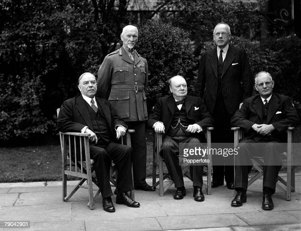 World War II Politics 27th April 1944 Winston Churchill the British Prime Minister with the Prime Ministers of the Empire LR Mackenzie King Canada...