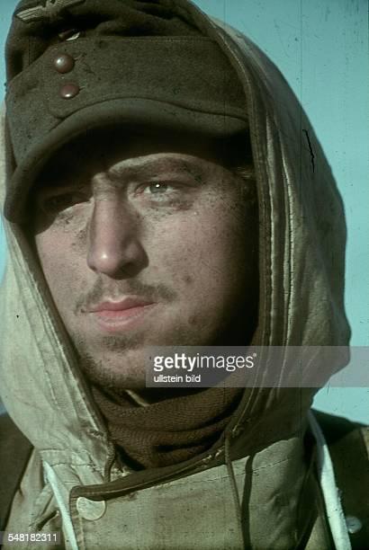 World War II Portrait of a German soldier in Russia winter 1943 or 1944 Photographer Wolff Tritschler Vintage property of ullstein bild