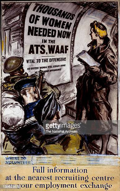 World War II poster - Forces Recruitment - ATS and WAAF