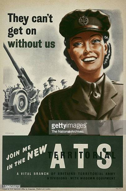 World War II poster - Forces Recruitment - Join Me In The New ATS