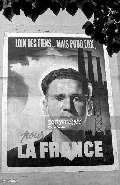 World War II  Poster in Paris during the Occupation, for the