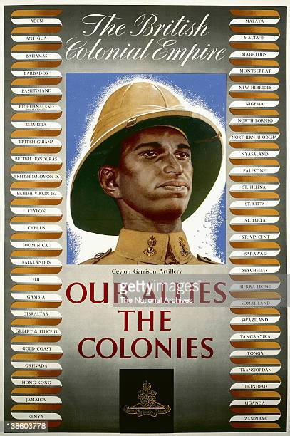 World War II poster Our Allies The Colonies