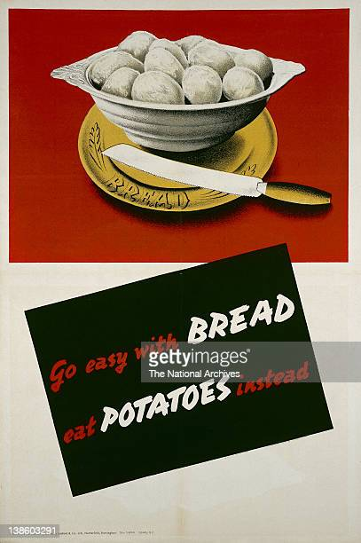 World War II poster Rationing Go Easy With Bread