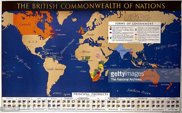British empire stock photos and pictures getty images world war ii poster the british commonwealth of nations gumiabroncs Choice Image