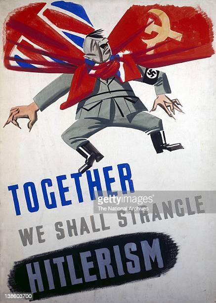World War II poster Together We Shall Strangle Hitlerism