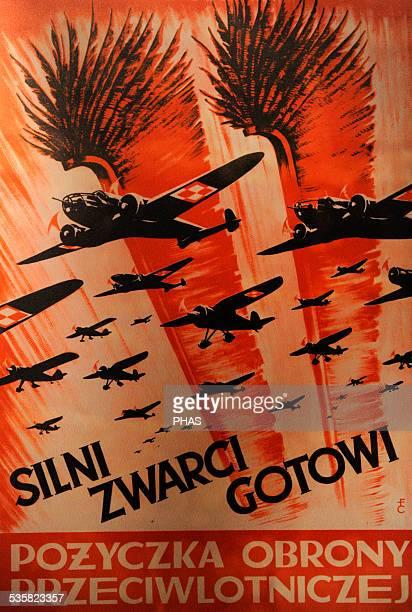 World War II. Propaganda Poster of the Polish Air Force, 1939. Oskar Schlinder Museum, Krakow, Poland.