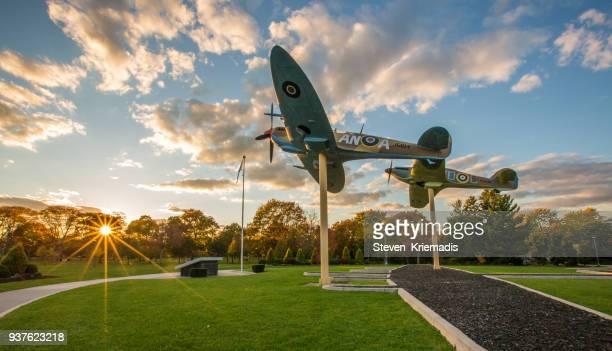 World War II Replica Planes in Jackson Park - Windsor, Ontario