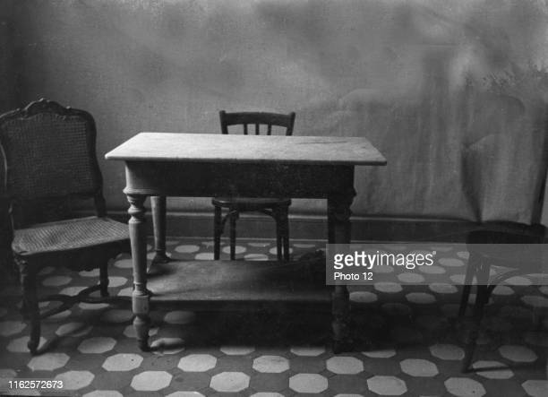 World War II Room of a town house occupied by the Gestapo in Paris before the insurrection