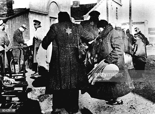 World War II Roundup of Jews in the Jewish area of Warsaw