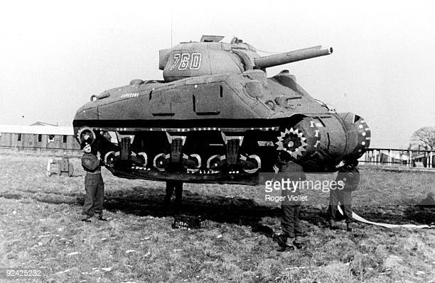 World War II Rubber tank in England
