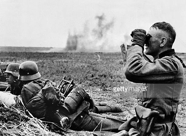 World War II Russian front German soldiers in the outposts of the Kharkov area May 1942