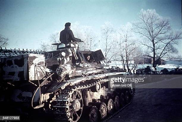 World War II Tanks of the German army group centre on the Eastern Front identical with image no 243485 1942 Vintage property of ullstein bild