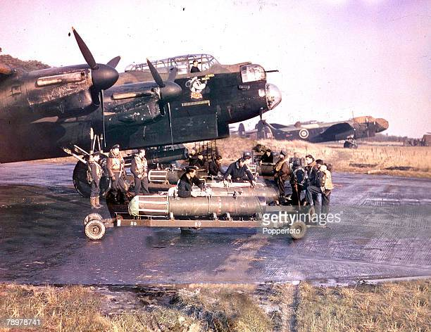 World War II The crew of Lancaster bomber Admiral Prune stands by as their plane is prepared for a minelaying operation