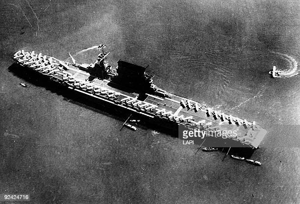 World War II The Lexington American aircraftcarrier in 1939 It was sunk by the Japanese during the Battle of the Coral Sea on May 8 1942