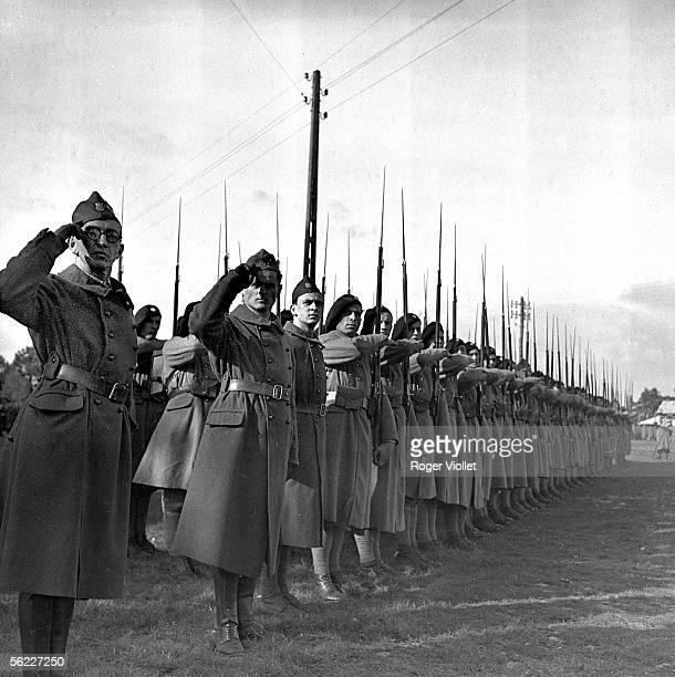 World War II Troops of the Polish legion Coetquidan 1939