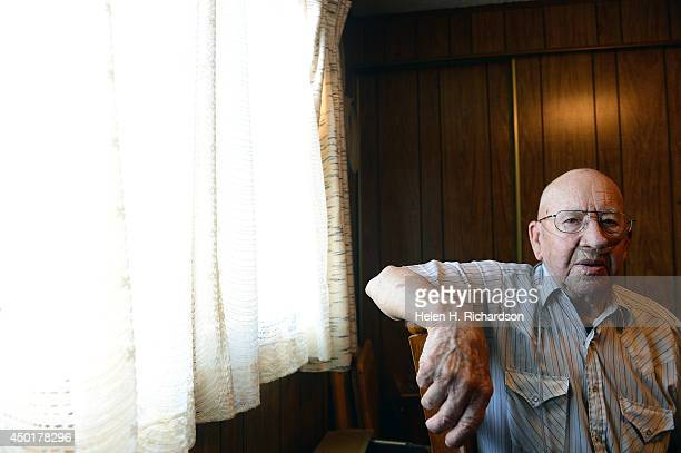 World War II veteran Gerald Dee Webb is pictured at his home in Ovid Co on June 3 2014 Now 92 Ovid reflects on the 70th anniversary of the famous...