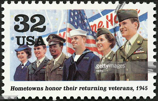 world war ii veterans - postage stamp stock pictures, royalty-free photos & images