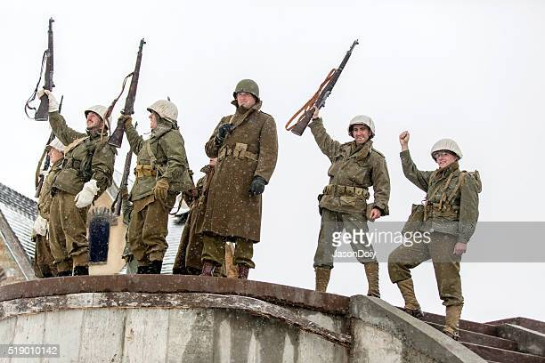 World War II: Victory Cheer After Storming Bunker