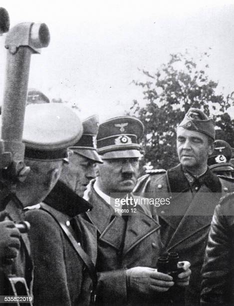 World War II Von Rundstedt Hitler and Von Paulus in Varsaw 1939