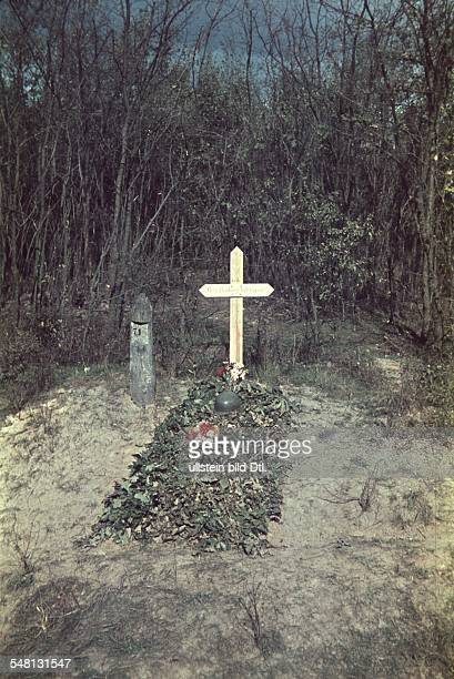World War II War grave of the private Gerhard Werner who fell during the German campaign in Poland 1939/40 Vintage property of ullstein bild