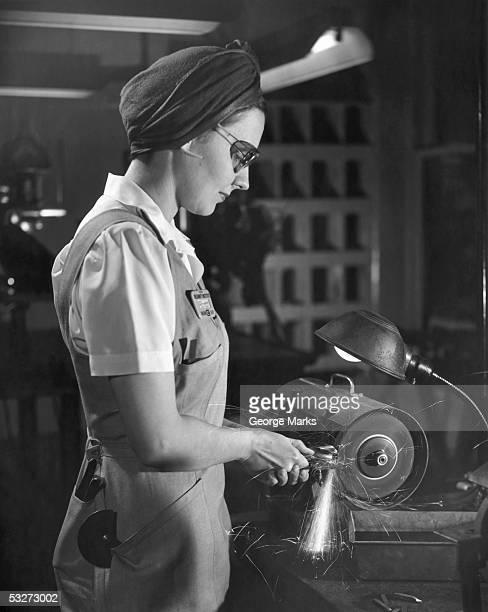 World War II woman defense worker