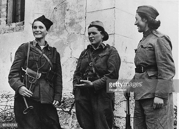 World War II Women in Tito's army at the end of the war Yugoslavia